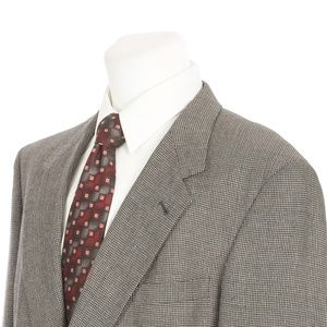 Hart Schaffner Marx Gray Black Brown Sport Coat